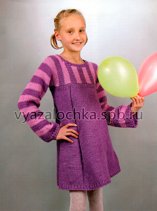 Сиреневое платье на девочку