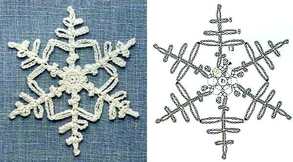 вязаные снежинки крючком схемы5