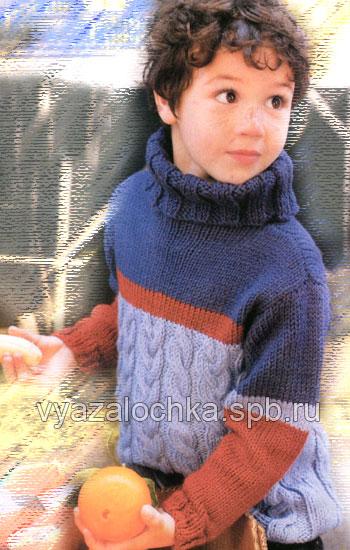 узоры крючком для свитера мальчику.