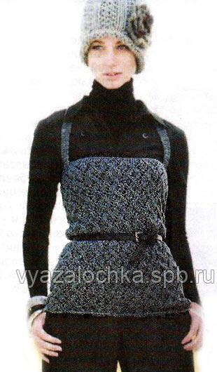 одеть вязаный ажурный топ