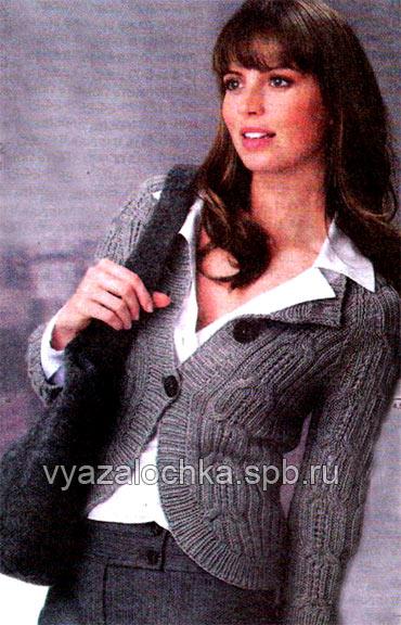 Вязание женского жакета с