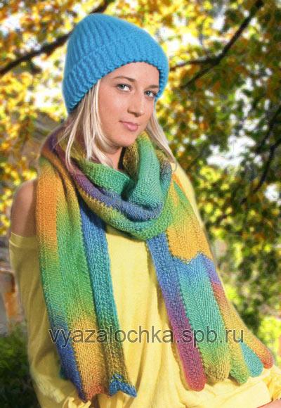 молодежная шапка и шарф