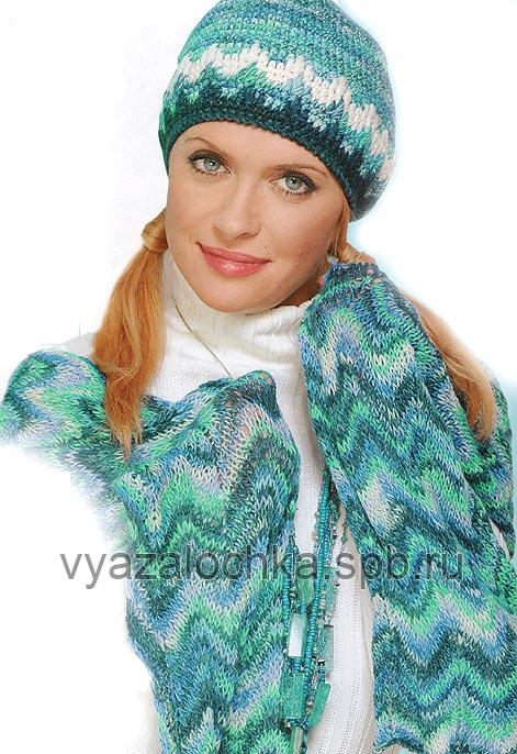 Схему вязания шарфа-палантина