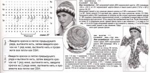 схема вязания шапки и палантина
