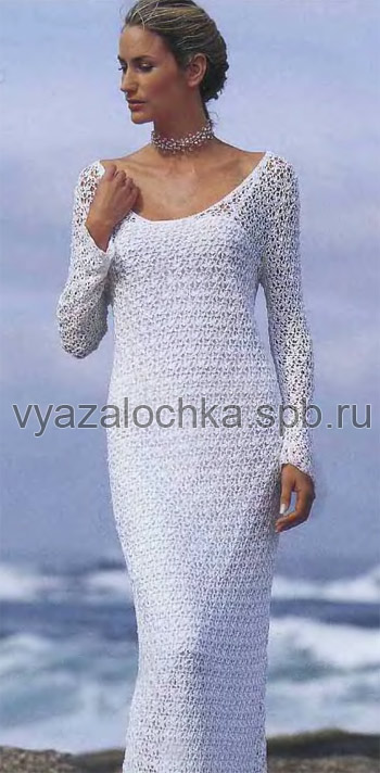 свадебное платье крючком!
