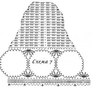 Схема вязания жакета для полных 4