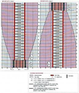 Схема вязания жилета шарфа спицами 1