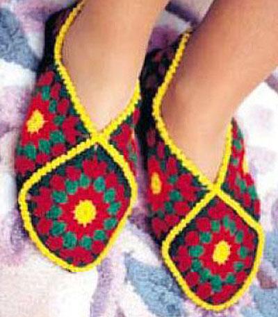 Описание вязания тапочек
