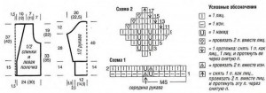 Схемы вязания жакета и выкройка 3