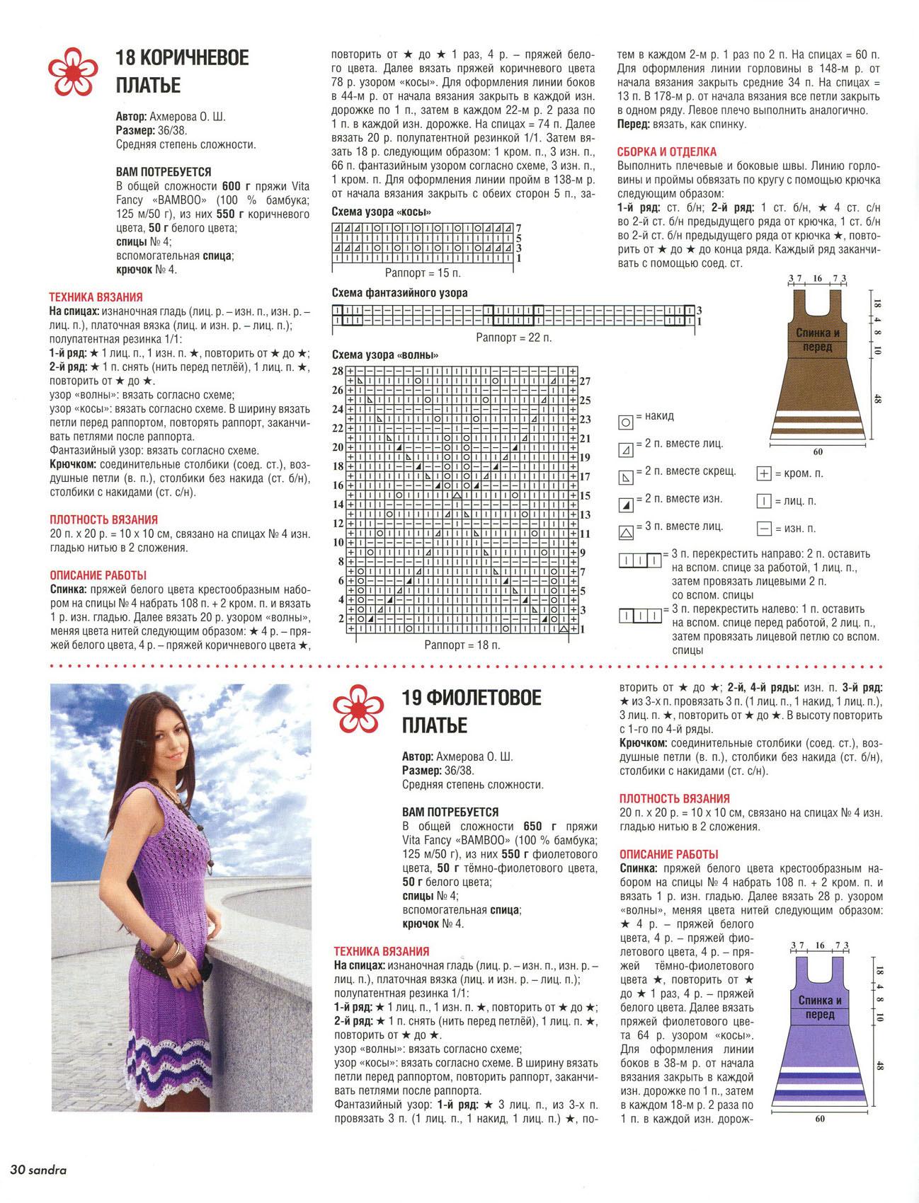 Схемы платьев платьев вязаных крючком