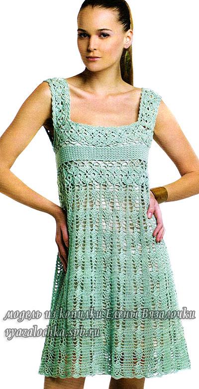 Летнее платье сарафан крючком