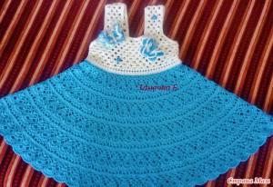 Платье сарафан крючком для девочки