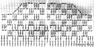 Схема вязания верхней части платья сарафана