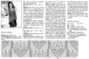 Описание вязания и схема жилета