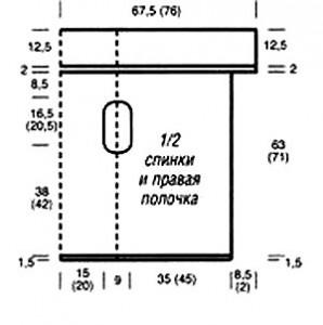 Выкройка жилета прямоугольника