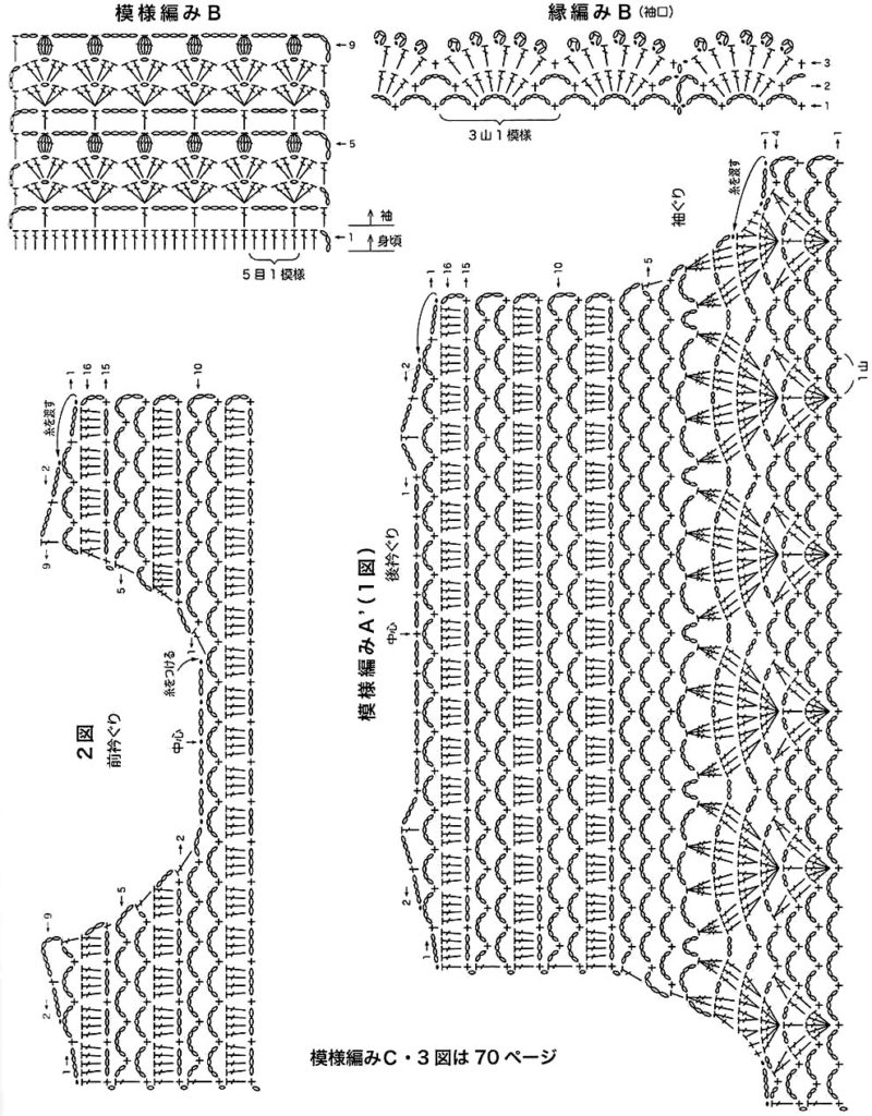 Схемы вязания крючком для женщин японские модели 46