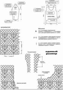 Схемы вязания узоров для платья - увеличиваются!